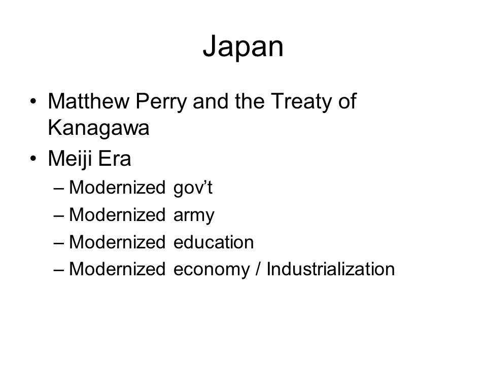 Japan Matthew Perry and the Treaty of Kanagawa Meiji Era