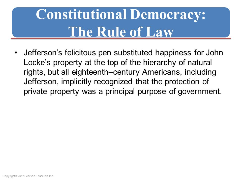 Constitutional Democracy: The Rule of Law