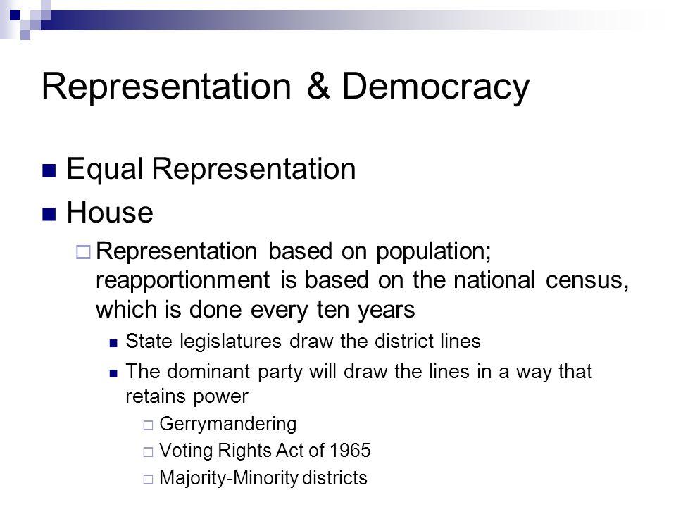 Representation & Democracy