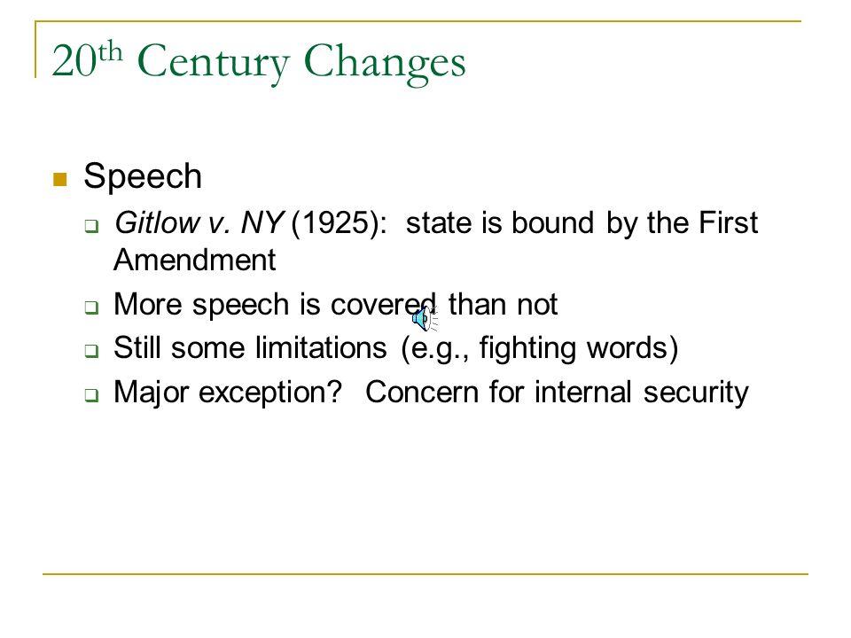 20th Century Changes Speech