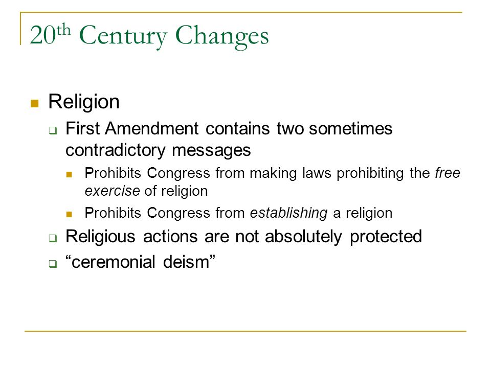 20th Century Changes Religion