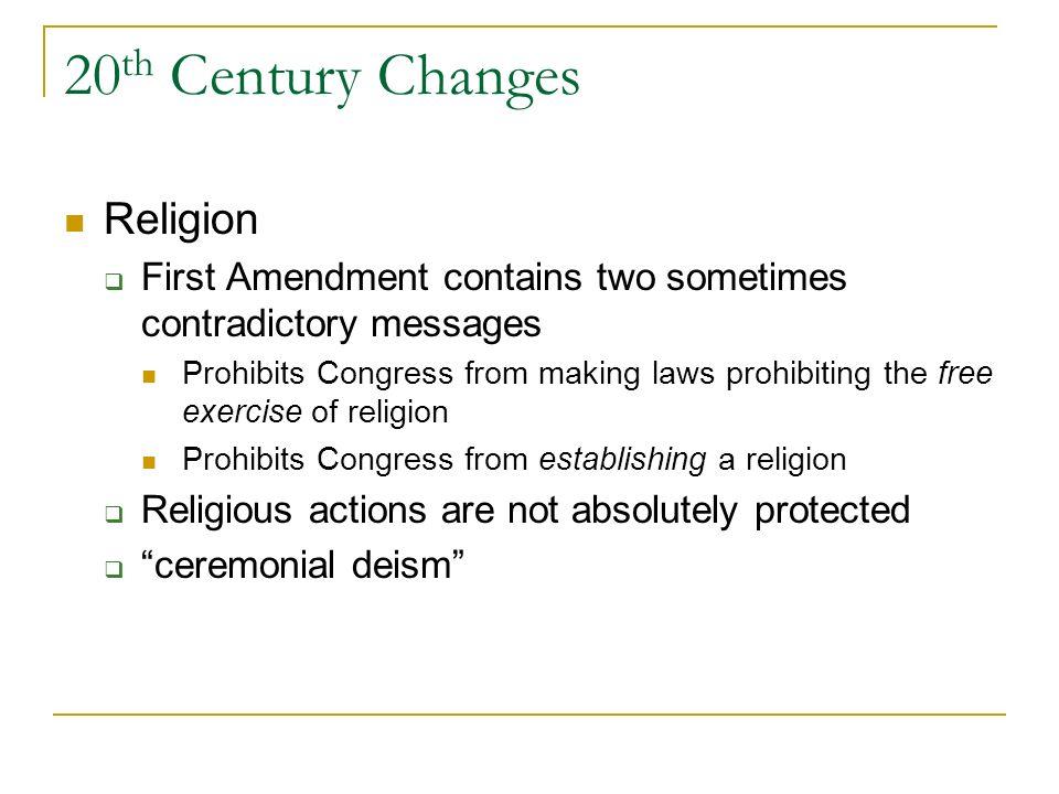 20th Century Changes Religion
