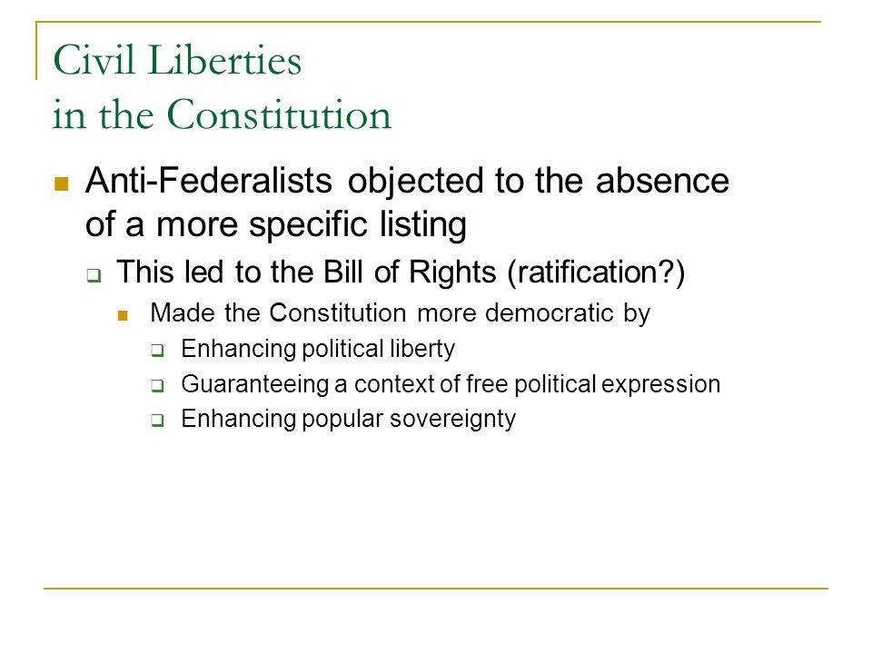 Civil Liberties in the Constitution