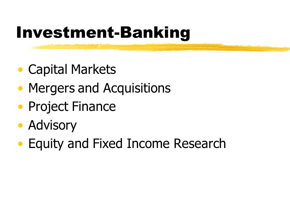 capital markets and the investment banking We have one of the most active and well-known investment banking teams in the   combined experience of working in investment banking and capital markets.