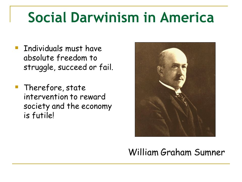 "social darwinism and the gospel of 08042012 given the well-known republican antipathy to evolution, president obama's recent description of the republican budget as an example of ""social."