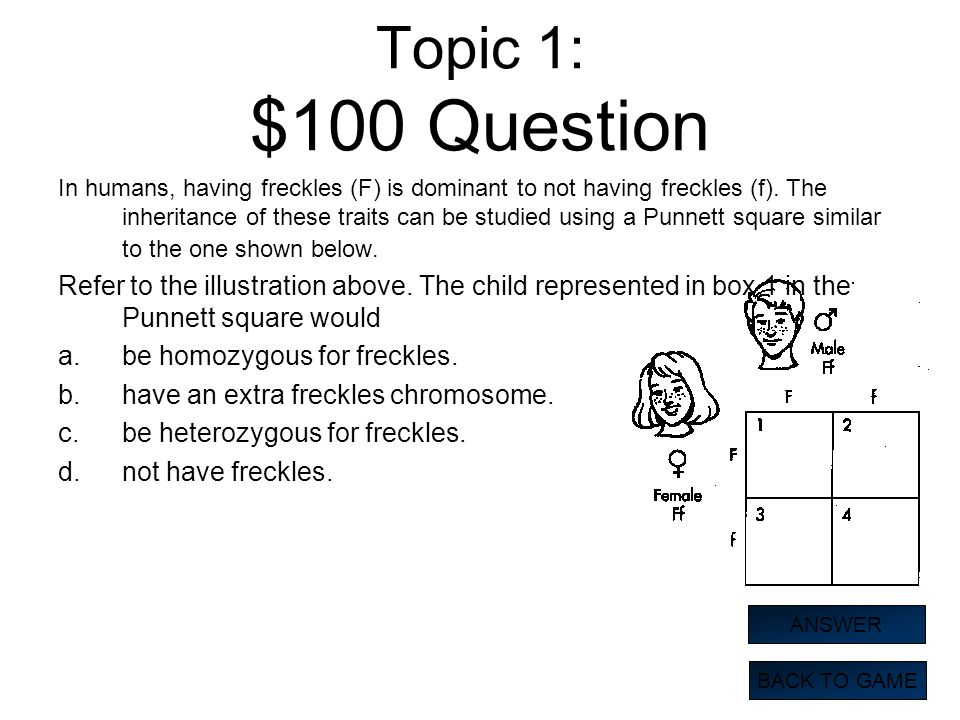 Topic 1: $100 Question