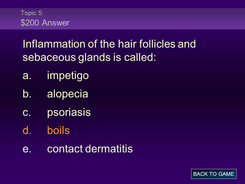 Inflammation of the hair follicles and sebaceous glands is called: