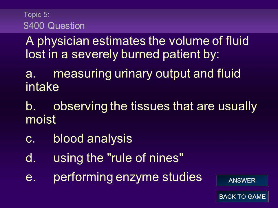 a. measuring urinary output and fluid intake