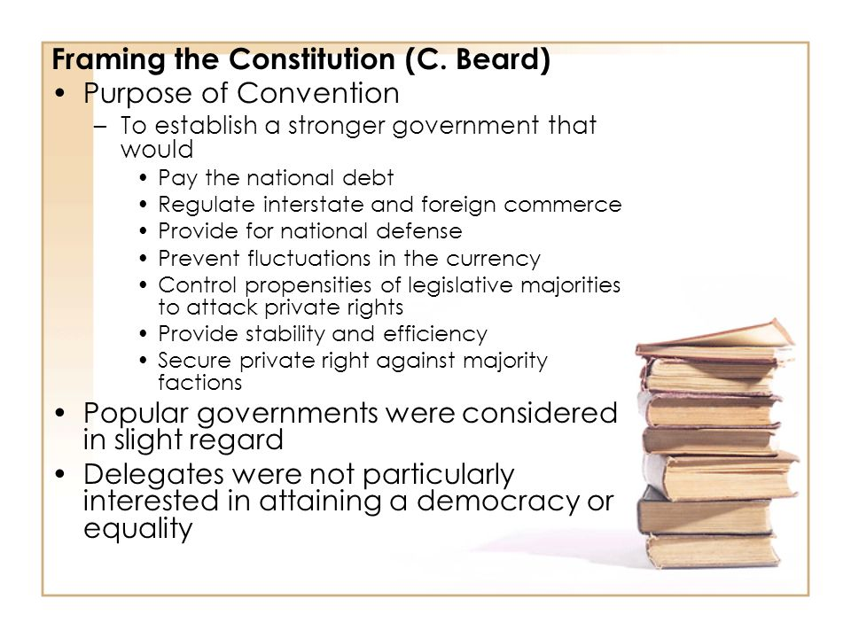 Framing the Constitution (C. Beard)