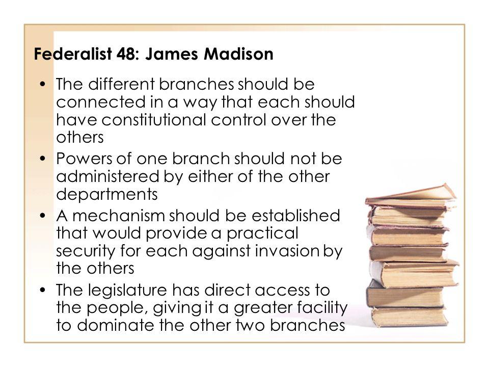Federalist 48: James Madison