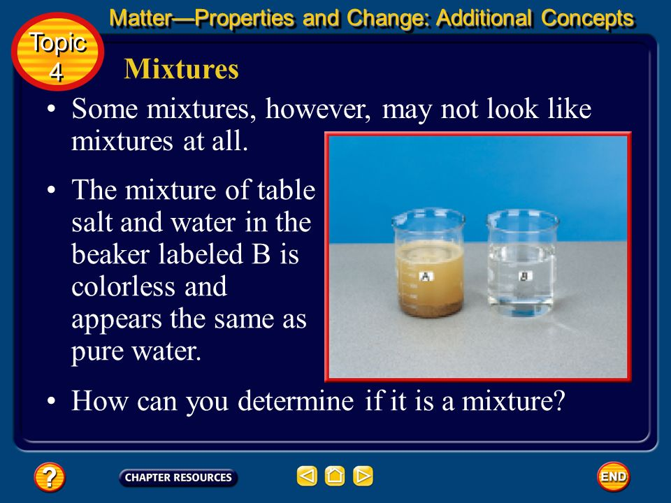 Some mixtures, however, may not look like mixtures at all.