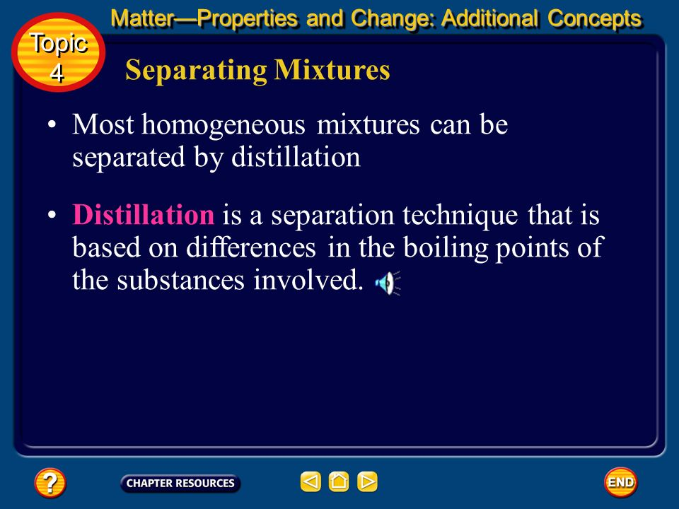 Most homogeneous mixtures can be separated by distillation