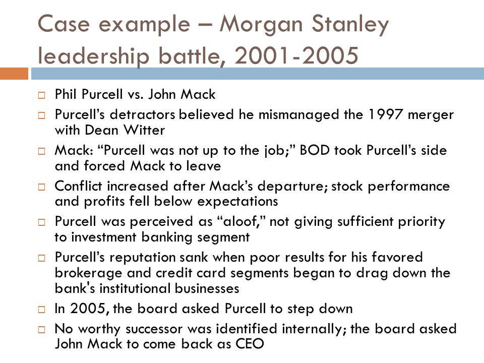 leadership example case Transformational leadership in the era of change a monograph by  the case studies are an analysis and historic significance of transformational leadership.