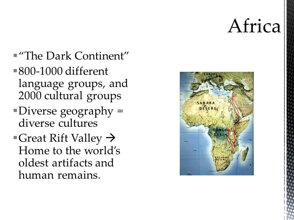 Africa The Dark Continent