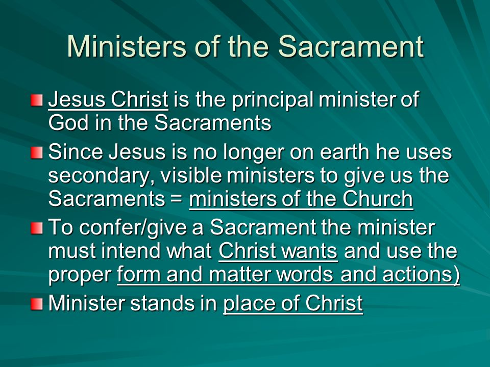 Ministers of the Sacrament
