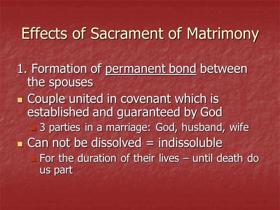 Effects of Sacrament of Matrimony