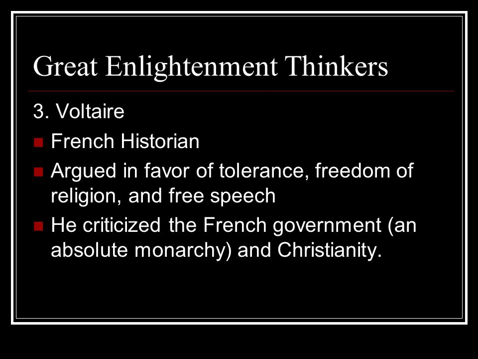 Great Enlightenment Thinkers