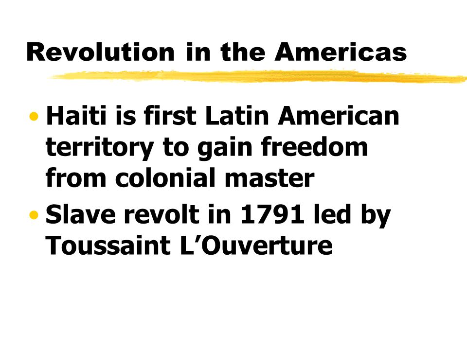 Revolution in the Americas