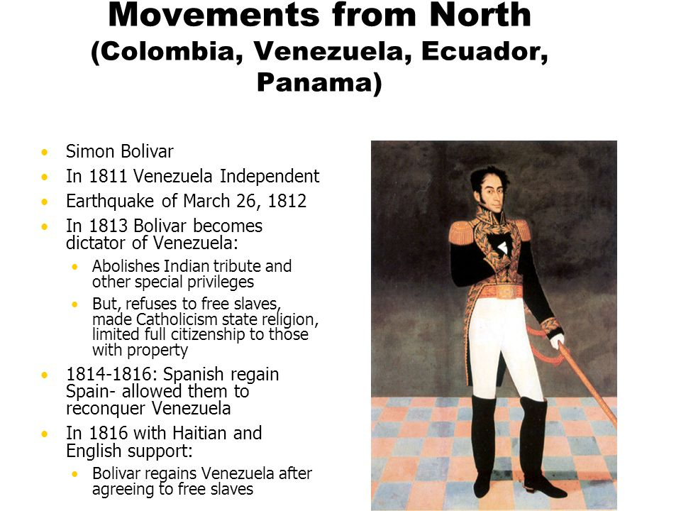 Movements from North (Colombia, Venezuela, Ecuador, Panama)