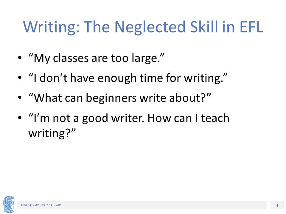 elt methods and practices ppt video online  4 writing the neglected skill
