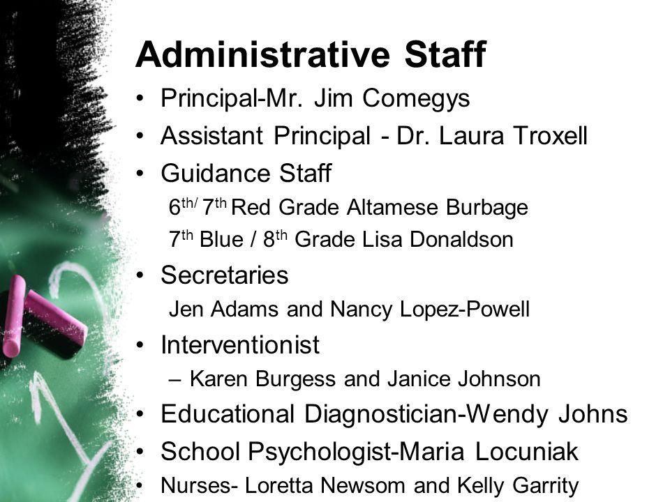 Administrative Staff Principal-Mr. Jim Comegys