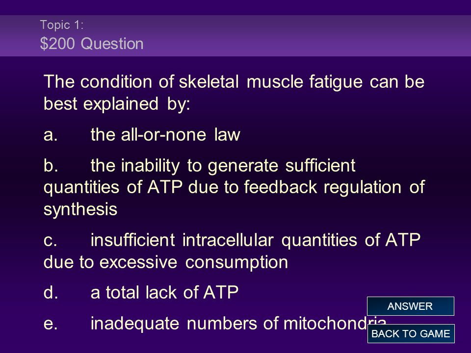 The condition of skeletal muscle fatigue can be best explained by: