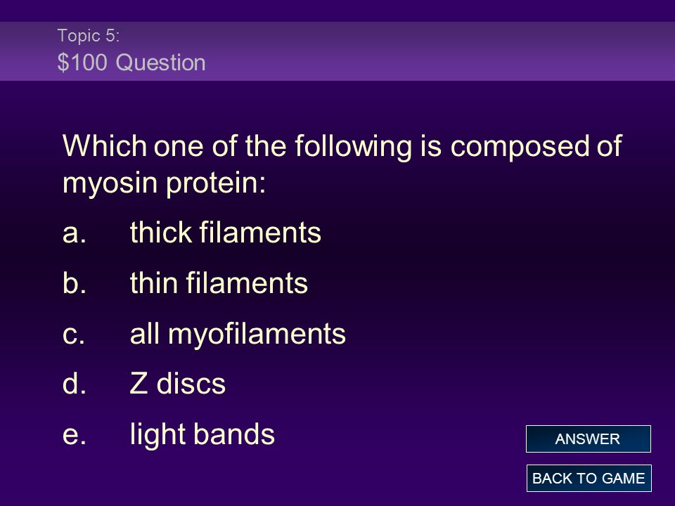 Which one of the following is composed of myosin protein: