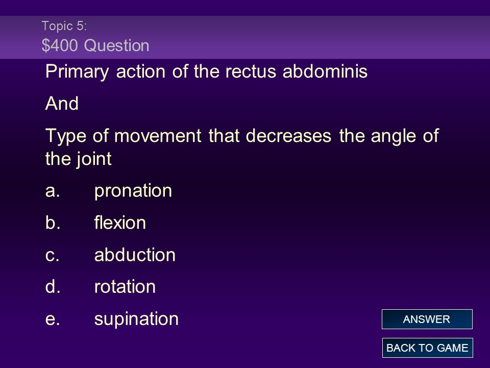 Primary action of the rectus abdominis And