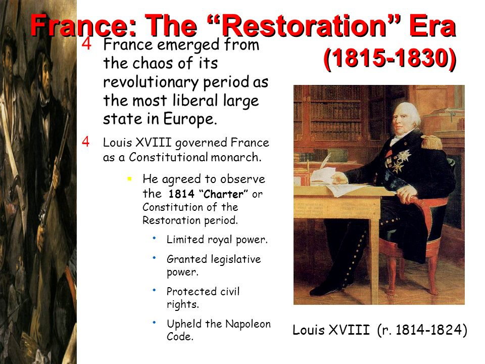 France: The Restoration Era (1815-1830)