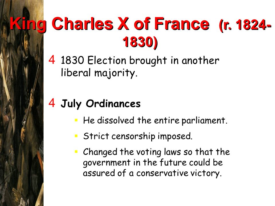 King Charles X of France (r )