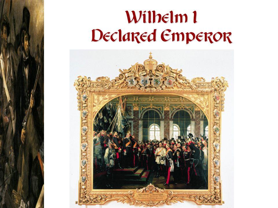 Wilhelm I Declared Emperor