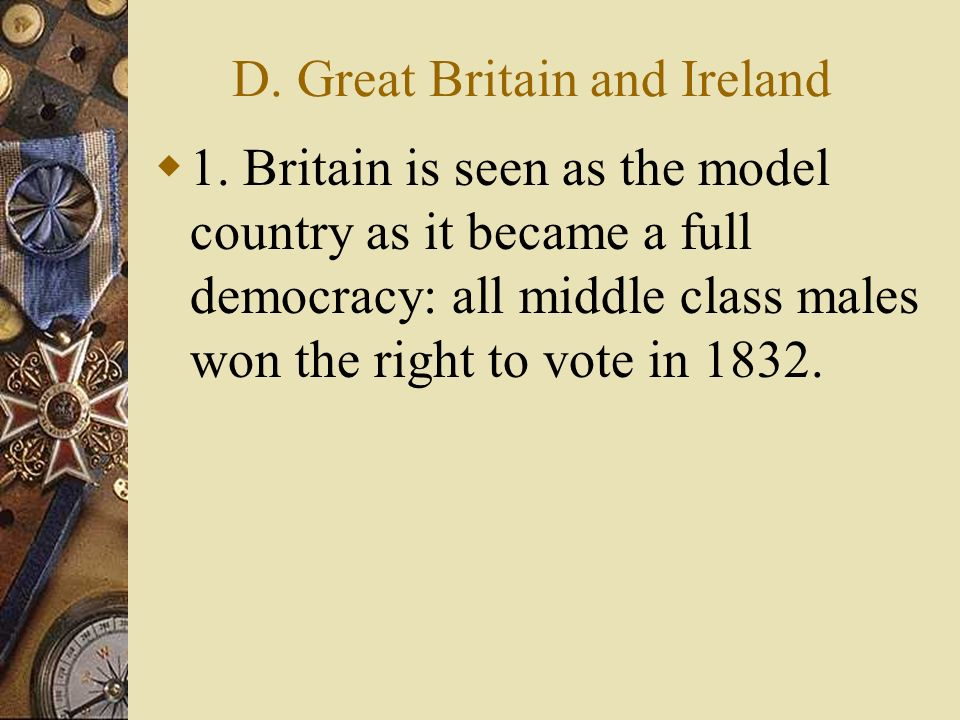 D. Great Britain and Ireland