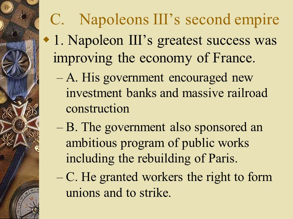 C. Napoleons III's second empire