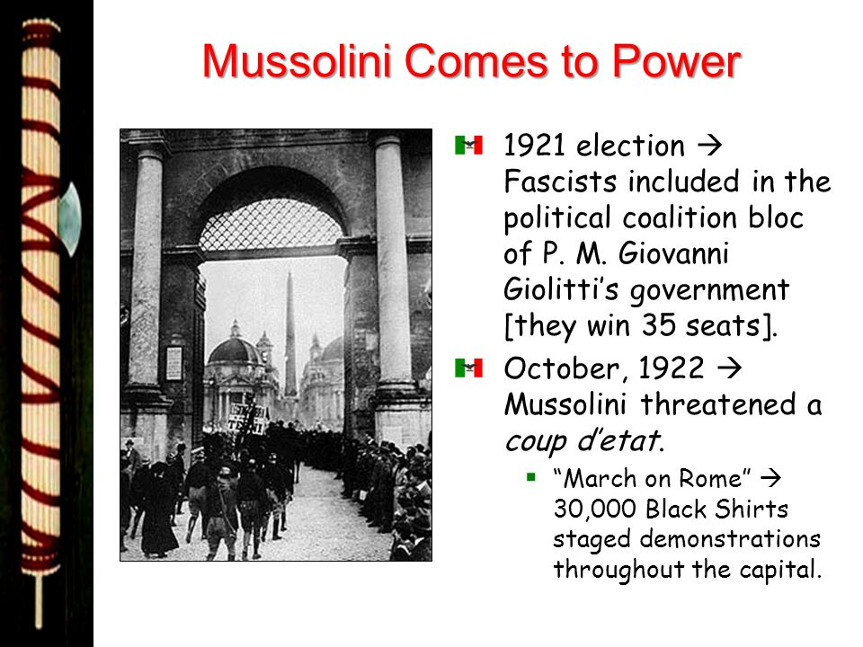 Mussolini Comes to Power