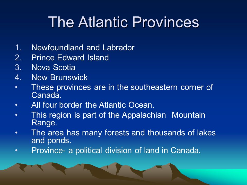 The Atlantic Provinces