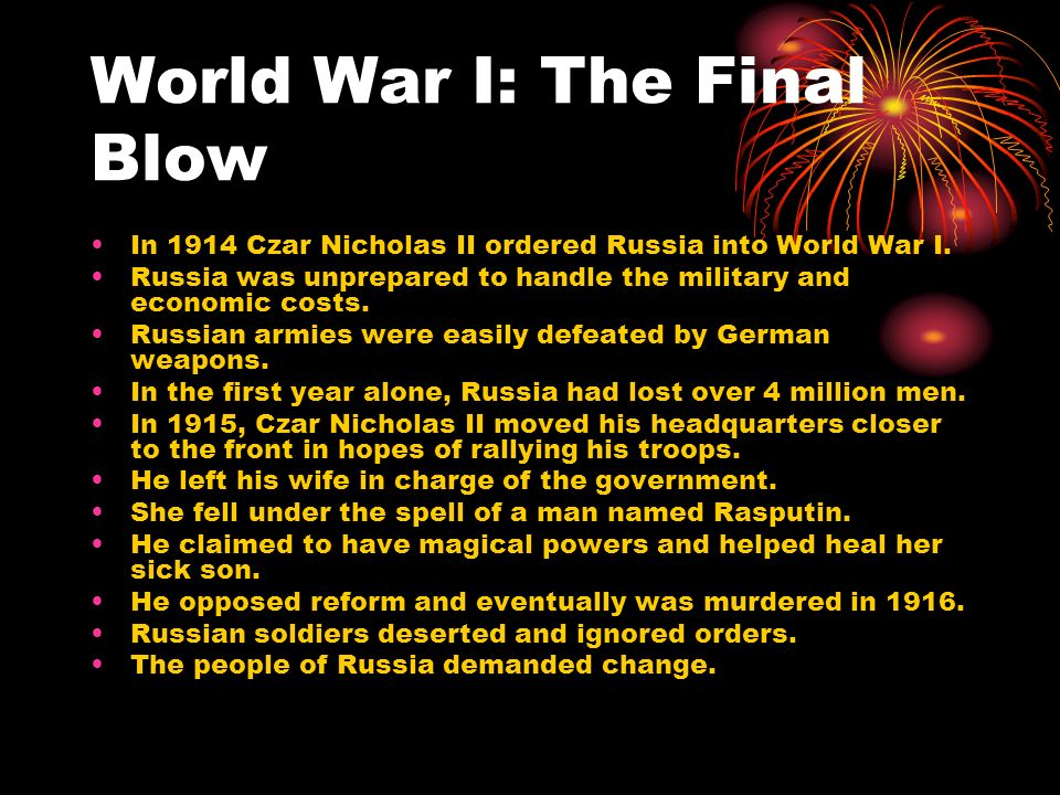 World War I: The Final Blow