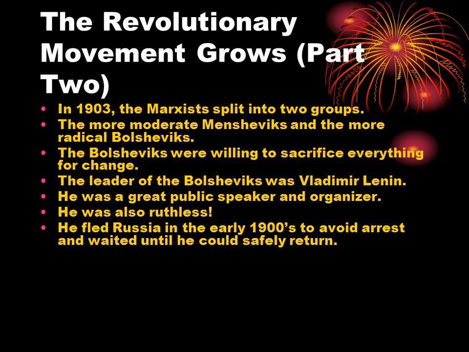 The Revolutionary Movement Grows (Part Two)
