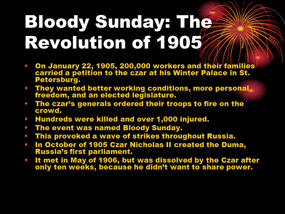 Bloody Sunday: The Revolution of 1905