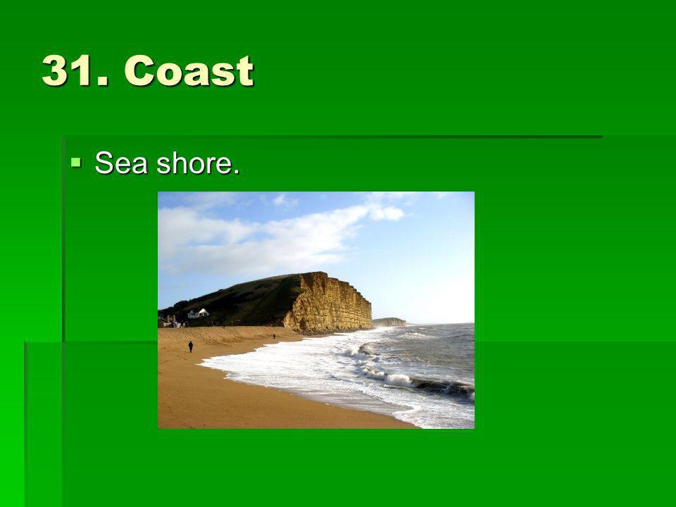 31. Coast Sea shore.