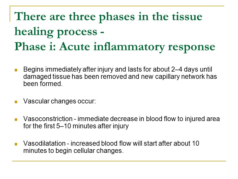 Triple response process of inflammation