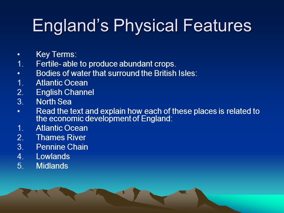 England's Physical Features