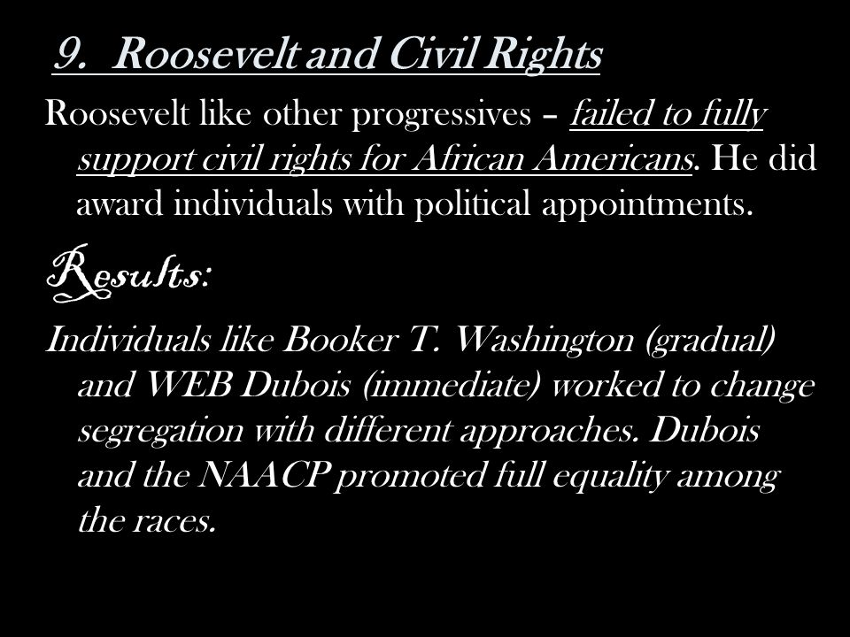 9. Roosevelt and Civil Rights