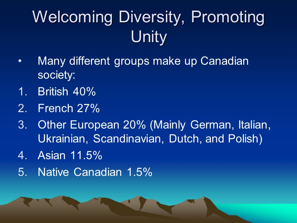 Welcoming Diversity, Promoting Unity