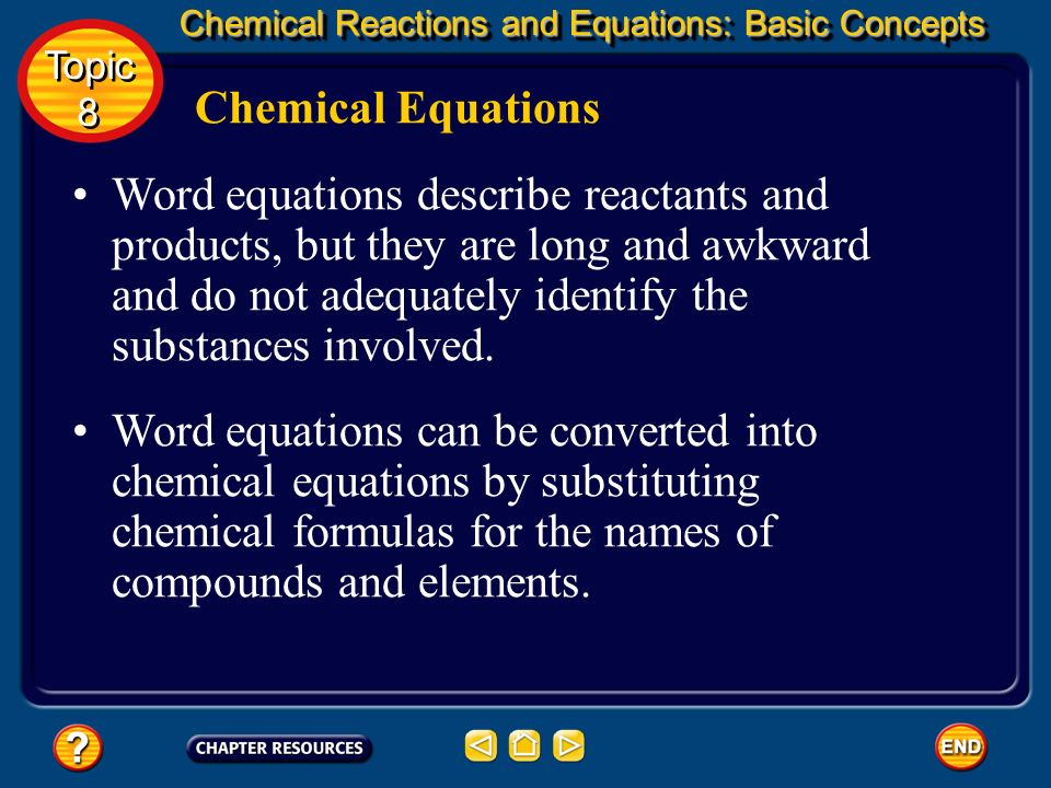 Chemical Reactions and Equations: Basic Concepts