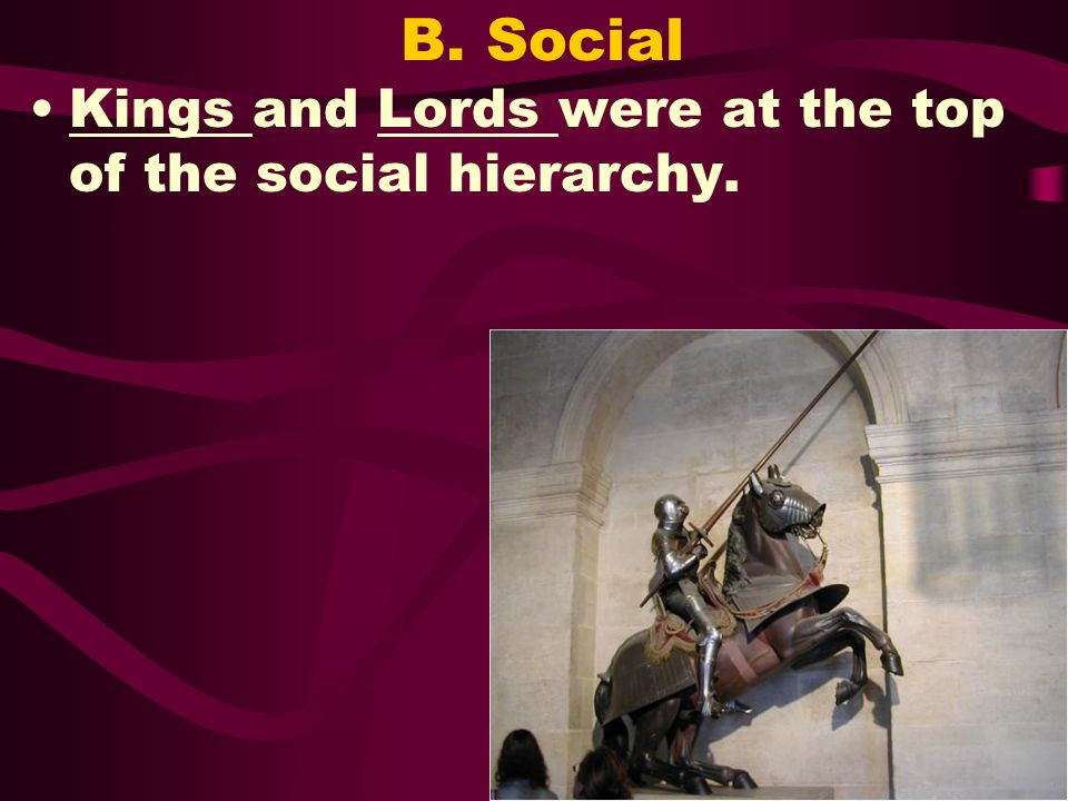 B. Social Kings and Lords were at the top of the social hierarchy.