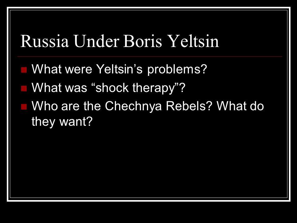Russia Under Boris Yeltsin