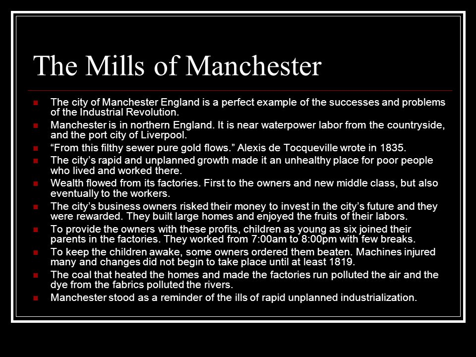 The Mills of Manchester