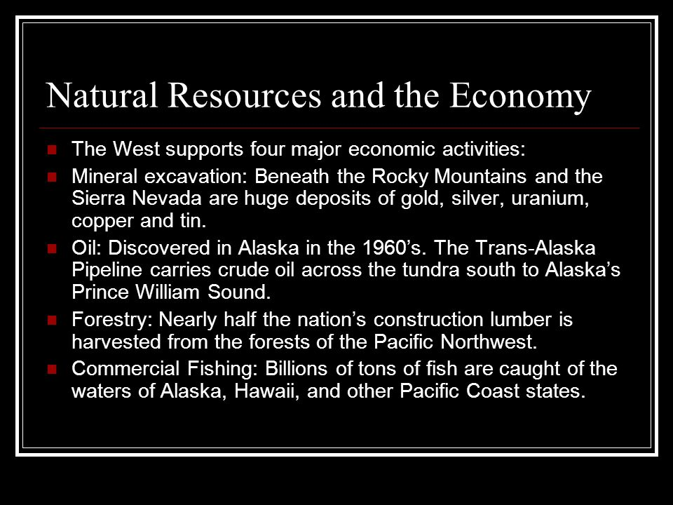 Natural Resources and the Economy