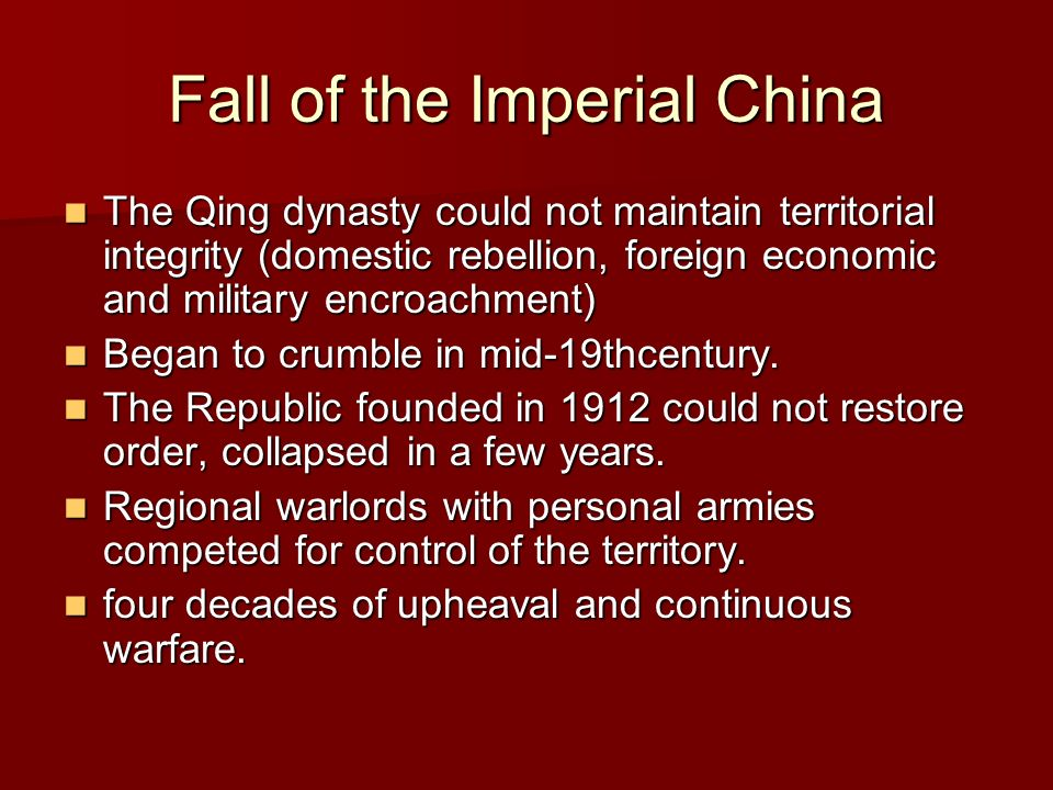 Fall of the Imperial China