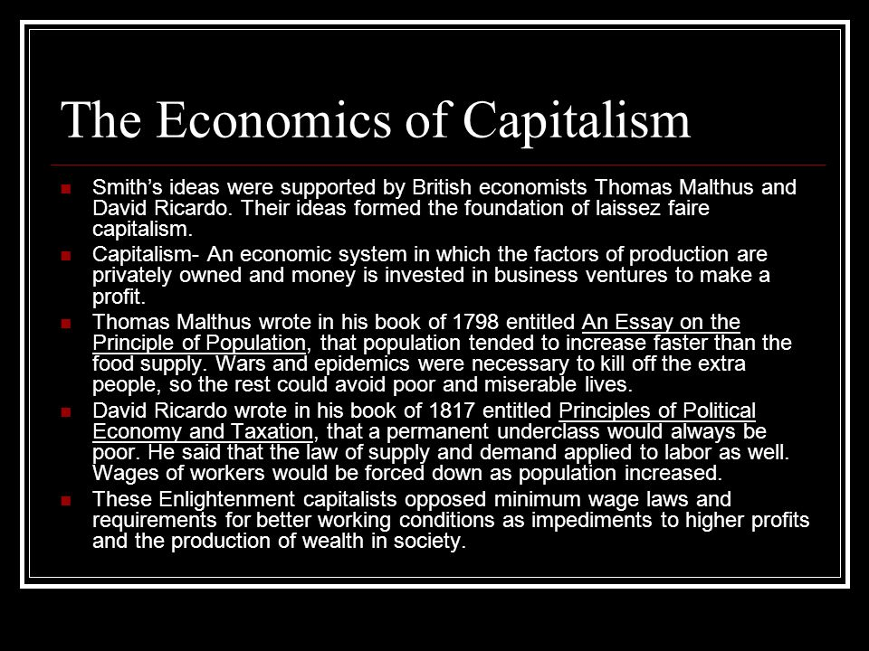The Economics of Capitalism